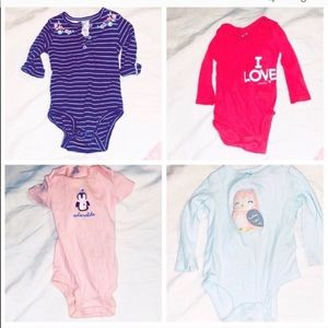 ♦️4 piece bundle Girls 12 month onesies carters